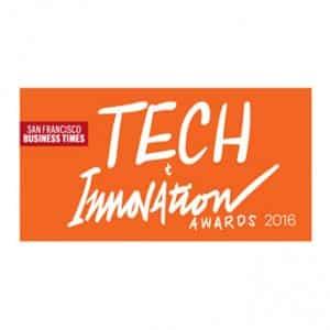 San Francisco Business Times 2016 Tech & Innovation Award Winner