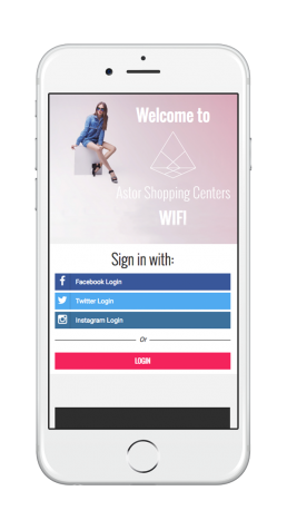 Astor Shopping Welcome Portal Mobile