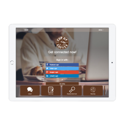 Cup of Coffee Welcome Portal Apps