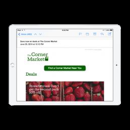 The Corner Market Email App