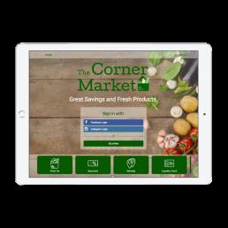The Corner Market Welcome Portal App