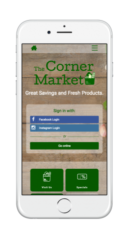 The Corner Market Welcome Portal Mobile