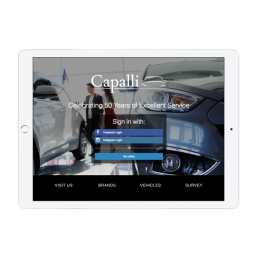 Capalli Dealership Welcome Portal App