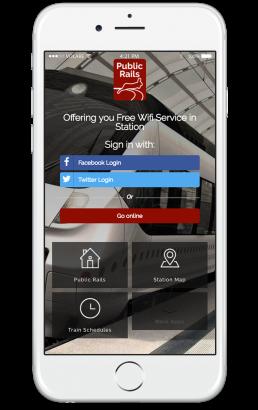 Public Rails Welcome Portal Mobile