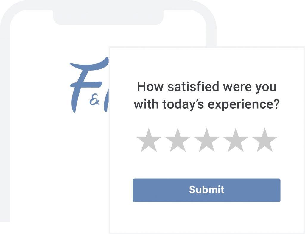customer survey location based messaging
