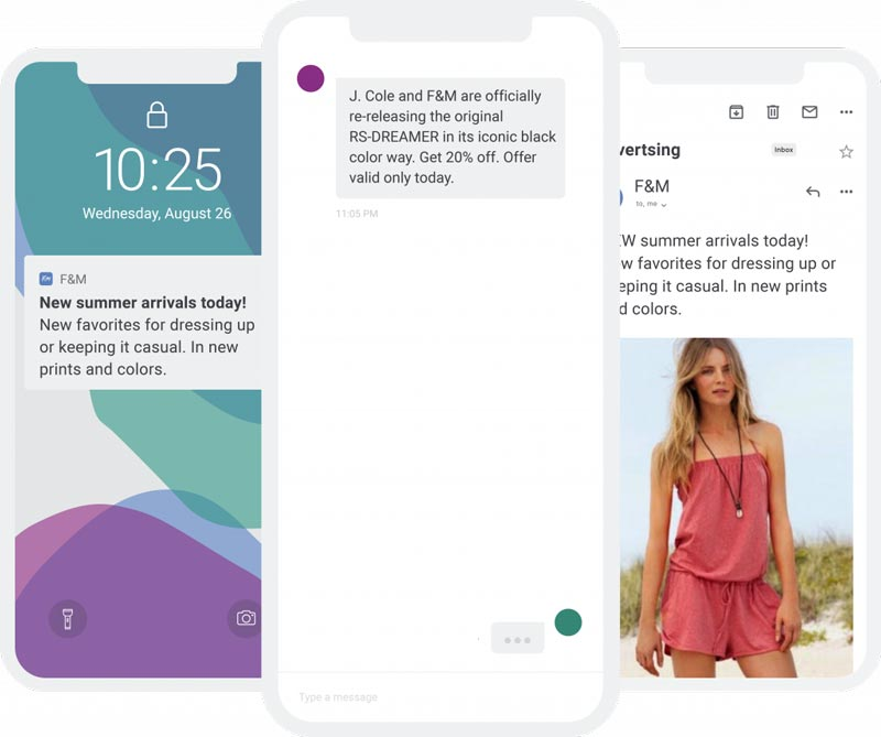 Text message marketing sms examples