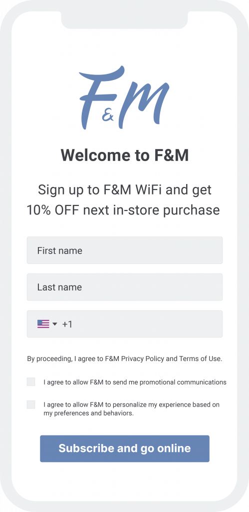 sign up customers while they access guest wifi