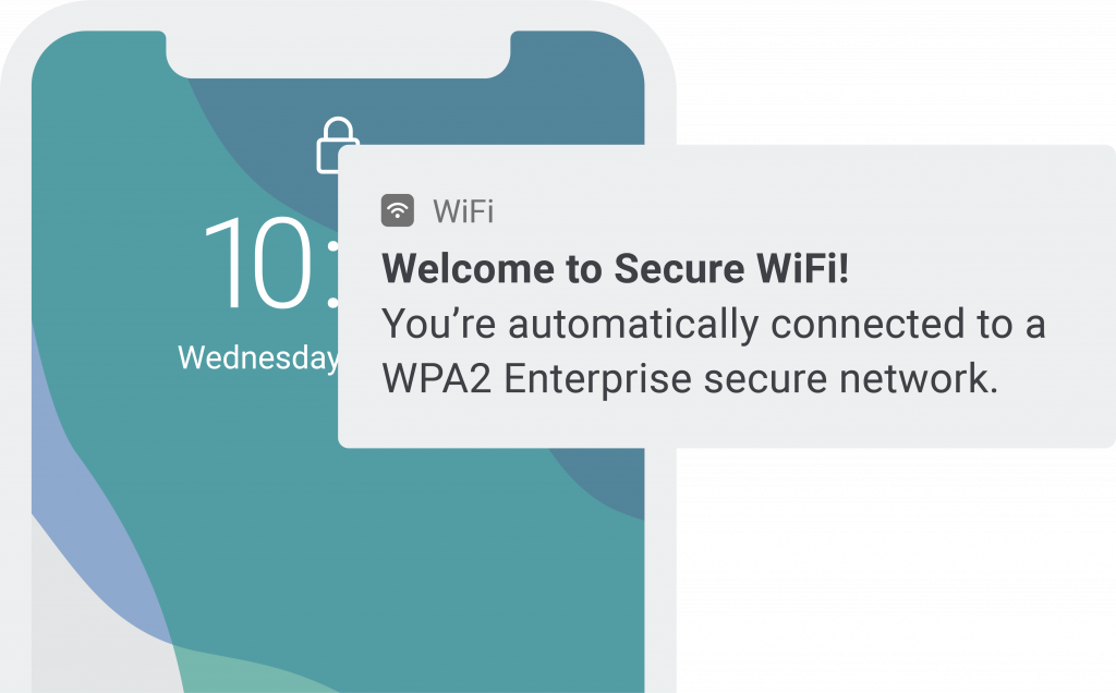 Secure WiFi sms for transportation