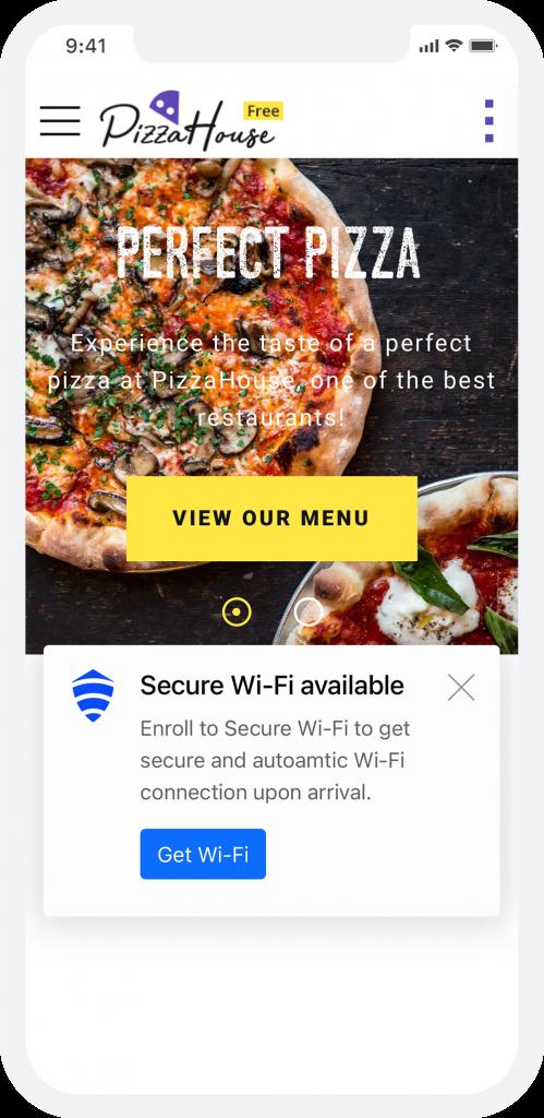 Secure WiFi Splash page